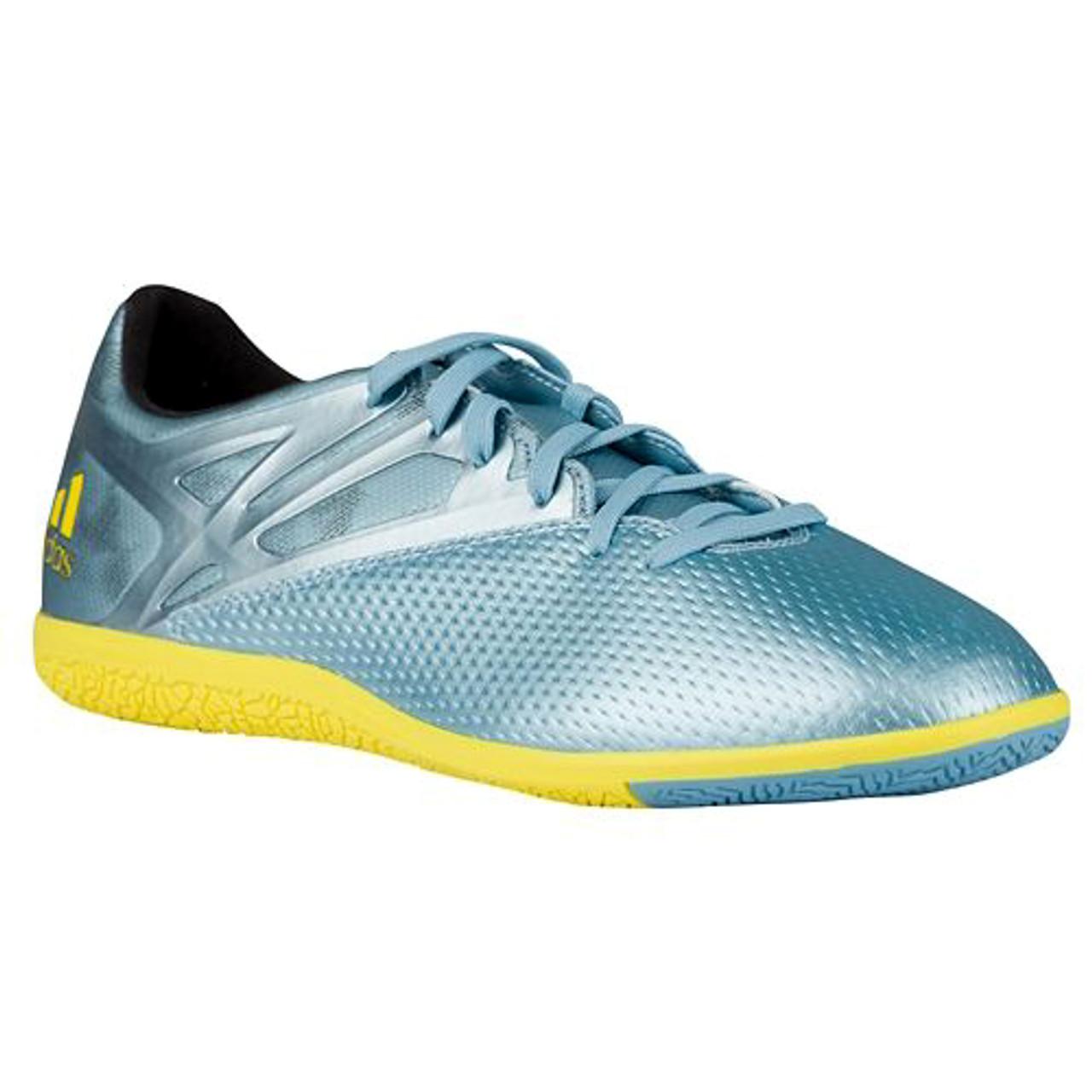 ADIDAS MESSI 15.3 IN - Matt Ice Metallic  Bright Yellow - Soccer Plus d0e2eab68