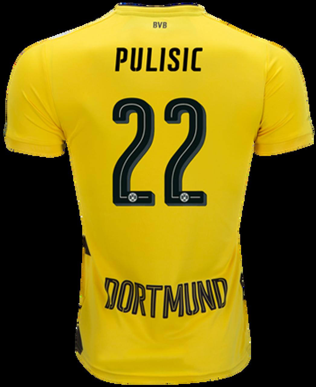 27ecb21da PUMA BORUSSIA DORTMUND 2018 BOYS `PULISIC` HOME JERSEY - Soccer Plus