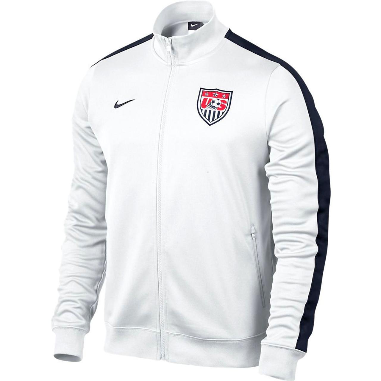 fd0f26e32d NIKE USA 2013 ANTHEM JACKET WHITE - Soccer Plus