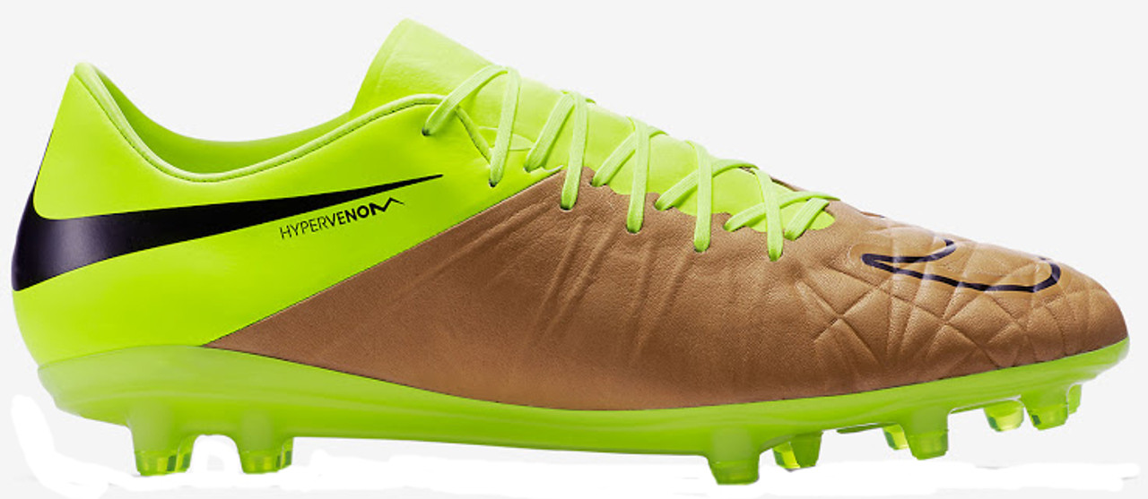 7e166bdf97a3 Nike Hypervenom Phinish (Leather) FG Volt/Canvas - Soccer Plus