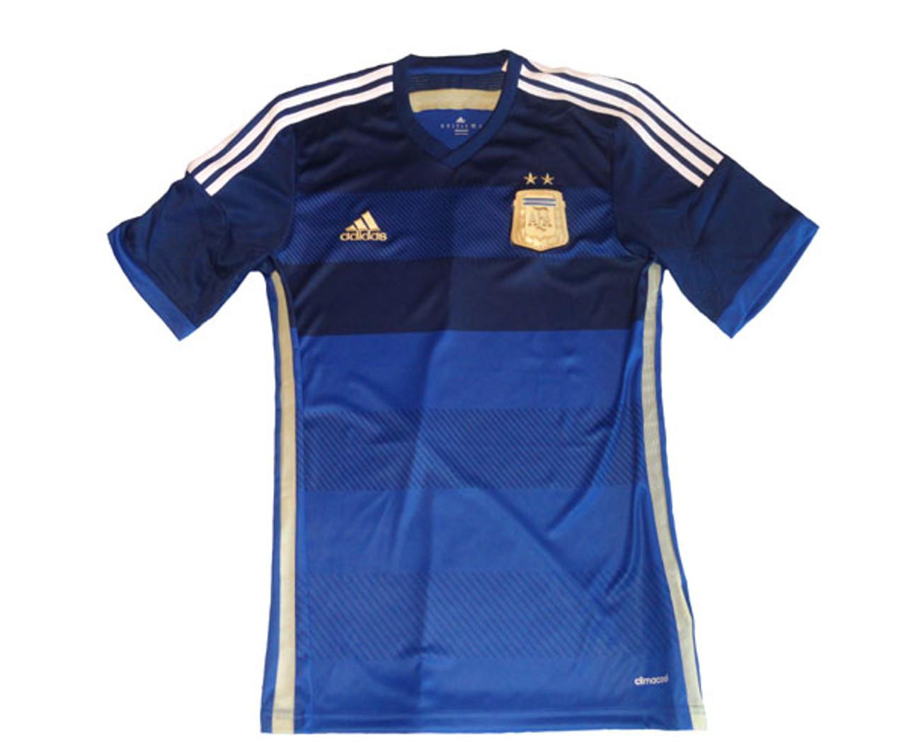 ADIDAS ARGENTINA 2014 AWAY JERSEY BLUE