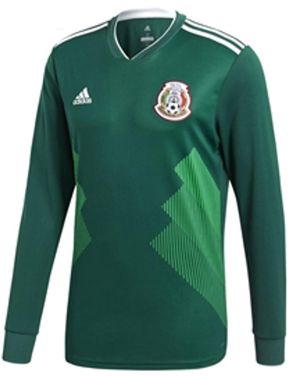 temperatura Por ahí carencia  ADIDAS MEXICO WORLD CUP 2018 HOME L/S JERSEY - Soccer Plus