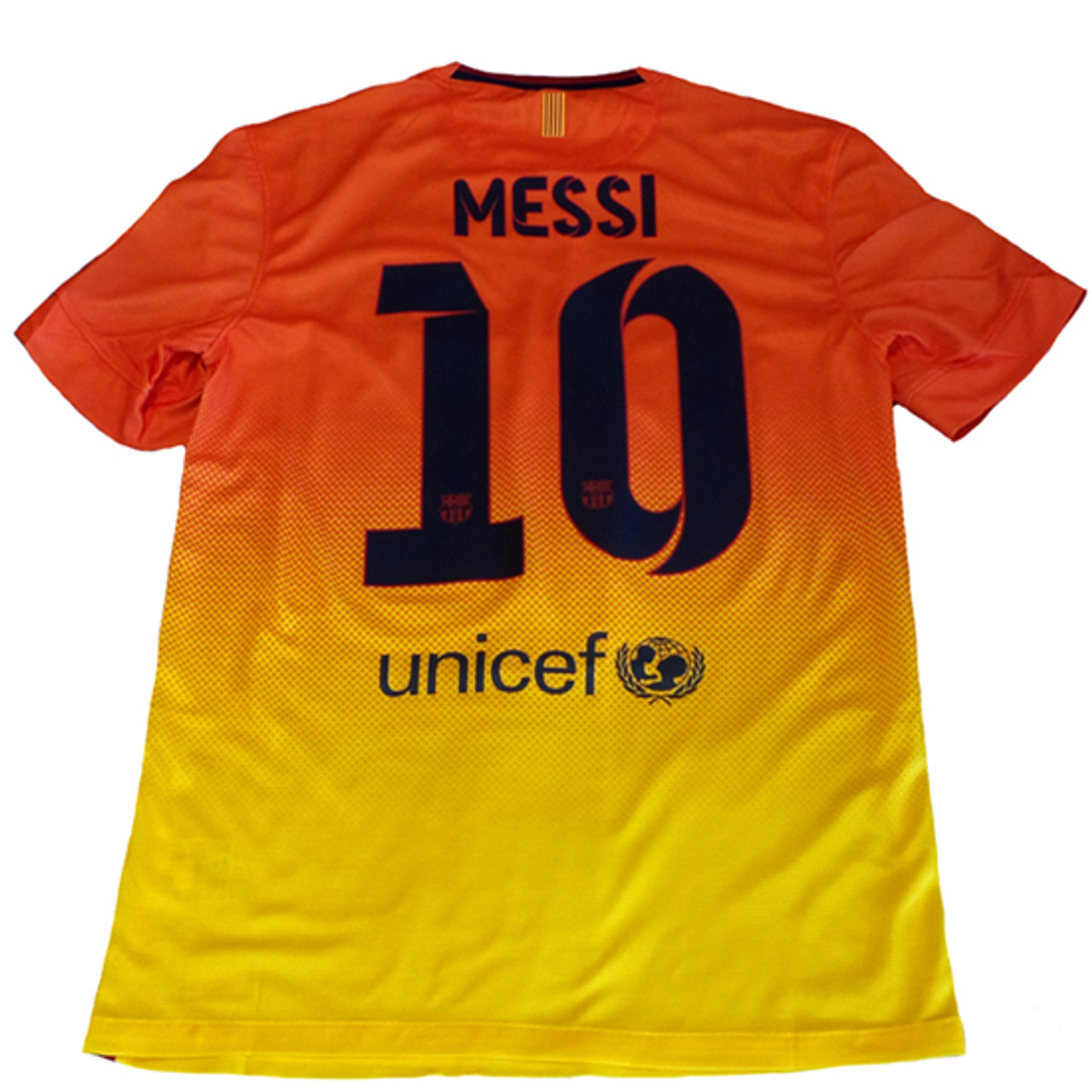 quality design 80927 47ef3 NIKE BARCELONA 2013 AWAY `MESSI` JERSEY Safety Orange/Tour Yellow1