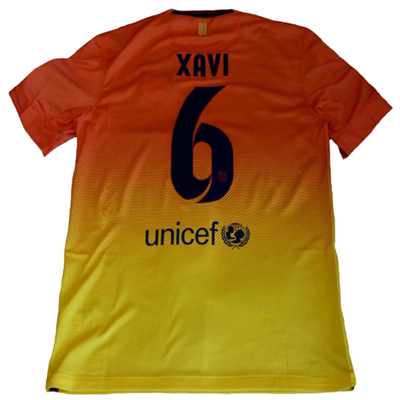 buy online 39ded 0af82 NIKE BARCELONA 2013 AWAY `XAVI` JERSEY Safety Orange/Tour Yellow1