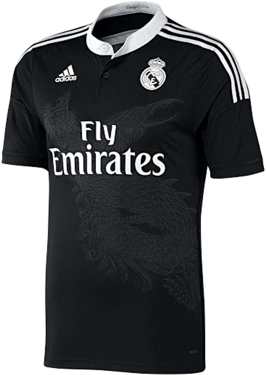 outlet store 16c3f 95763 ADIDAS REAL MADRID 2015 BLACK 3RD JERSEY