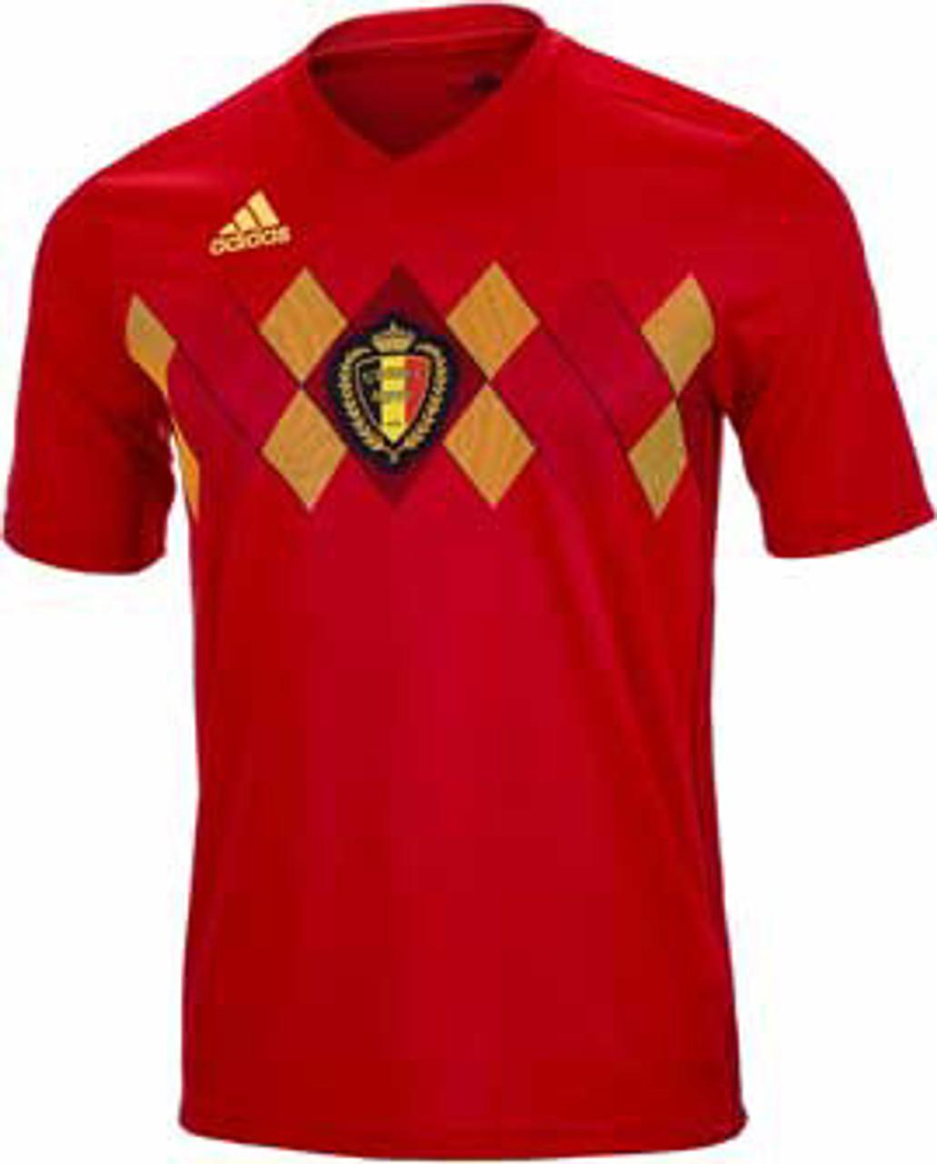 bf69ac0889e ADIDAS BELGIUM 2018 WORLD CUP HOME JERSEY - Soccer Plus