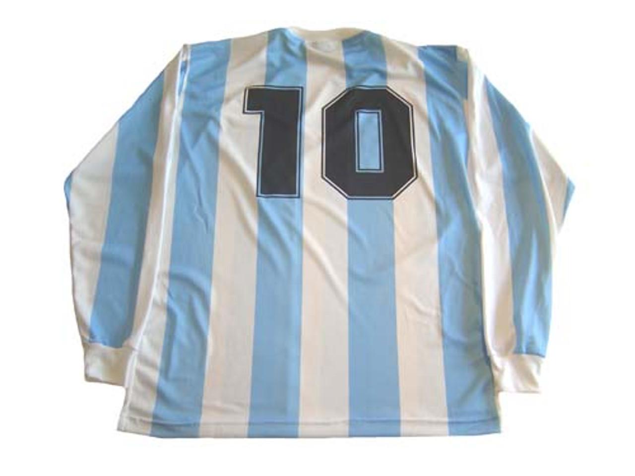 47e0e3cc22 LE COQ SPORTIF ARGENTINA 1986 MARADONA HOME L/S RETRO JERSEY ...