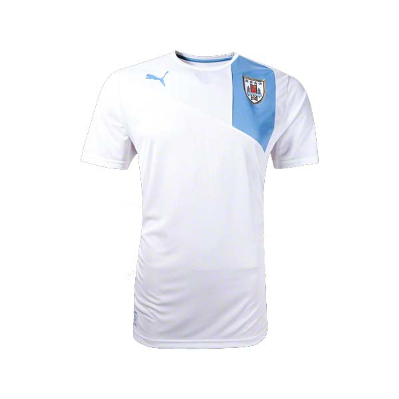 2bc02567b PUMA URUGUAY 2013 AWAY JERSEY WHITE - Soccer Plus