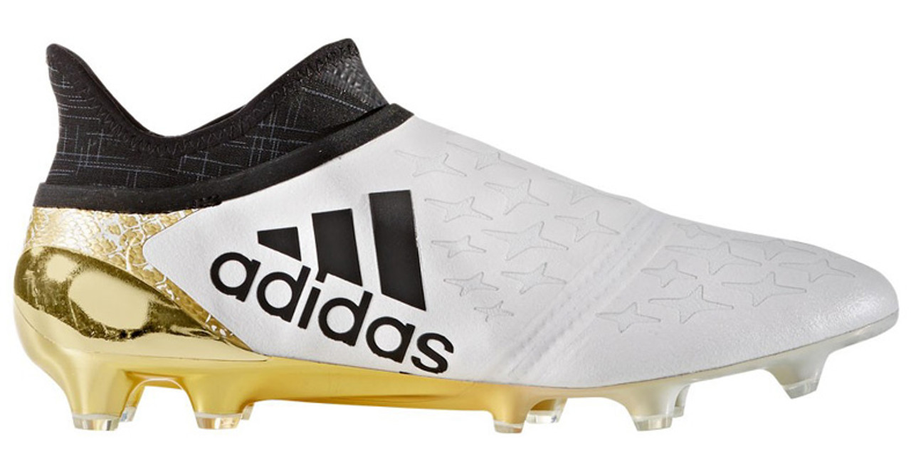 reputable site b7756 704b2 adidas X 16+ Purechaos FG white/gold Limited