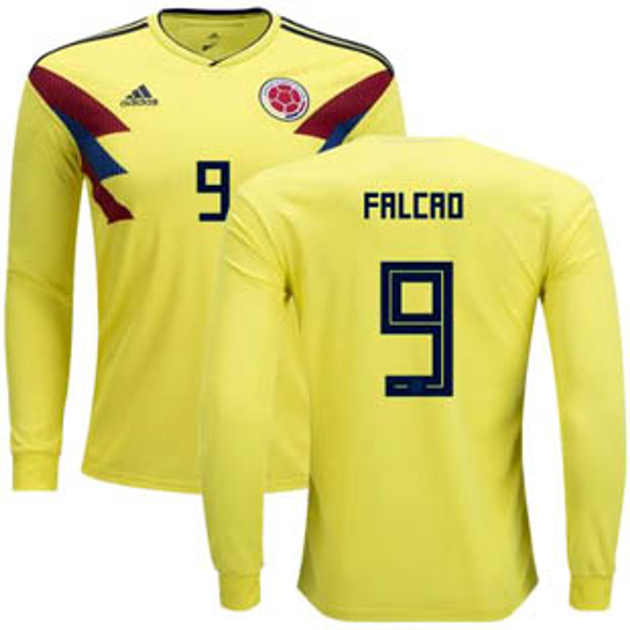 30f7a065a35 ADIDAS COLOMBIA WORLD CUP 2018 `FALCAO`HOME L/S JERSEY - Soccer Plus