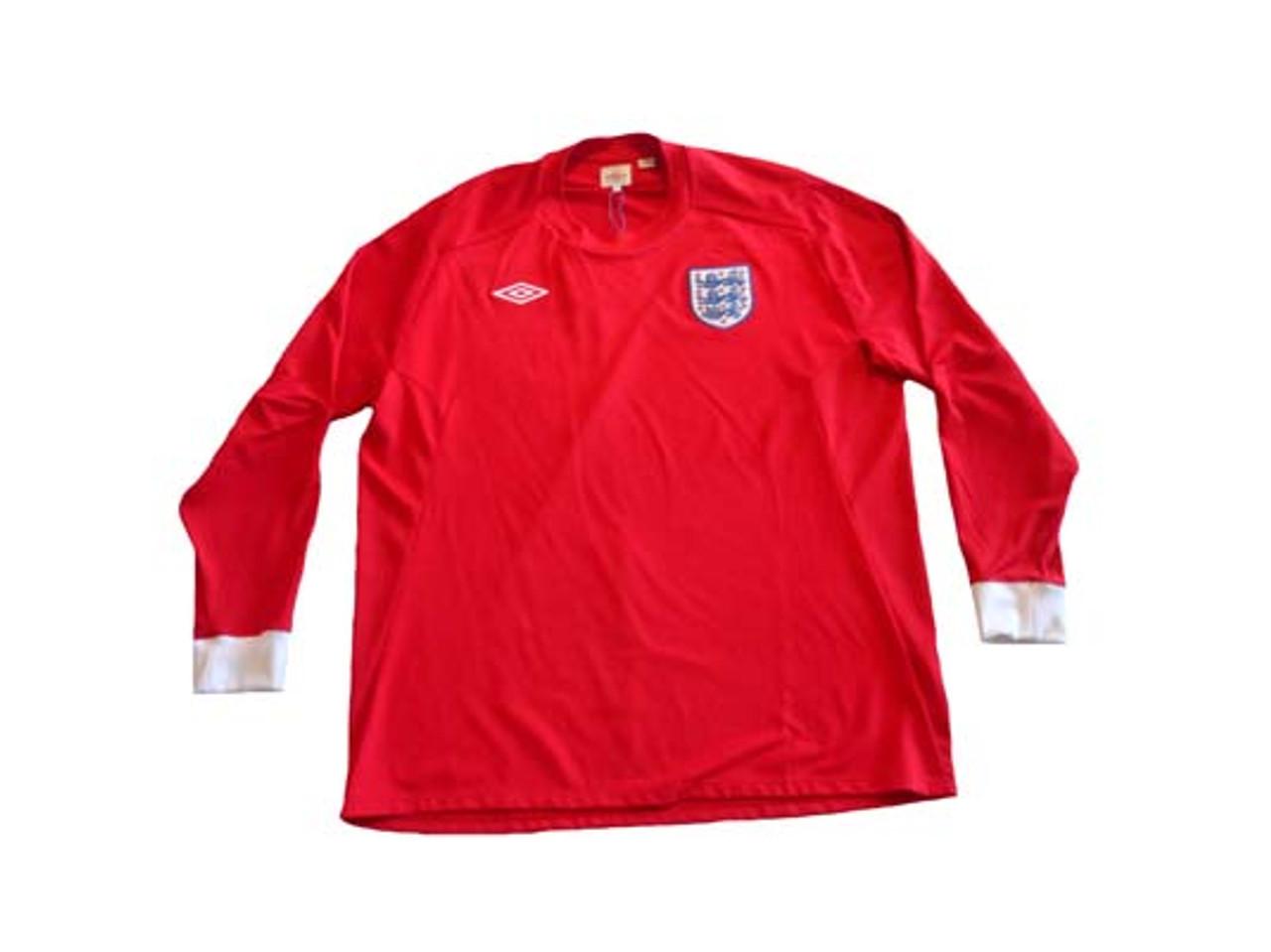 UMBRO ENGLAND 2010 AWAY RED L S JERSEY - Soccer Plus 69cb96e68