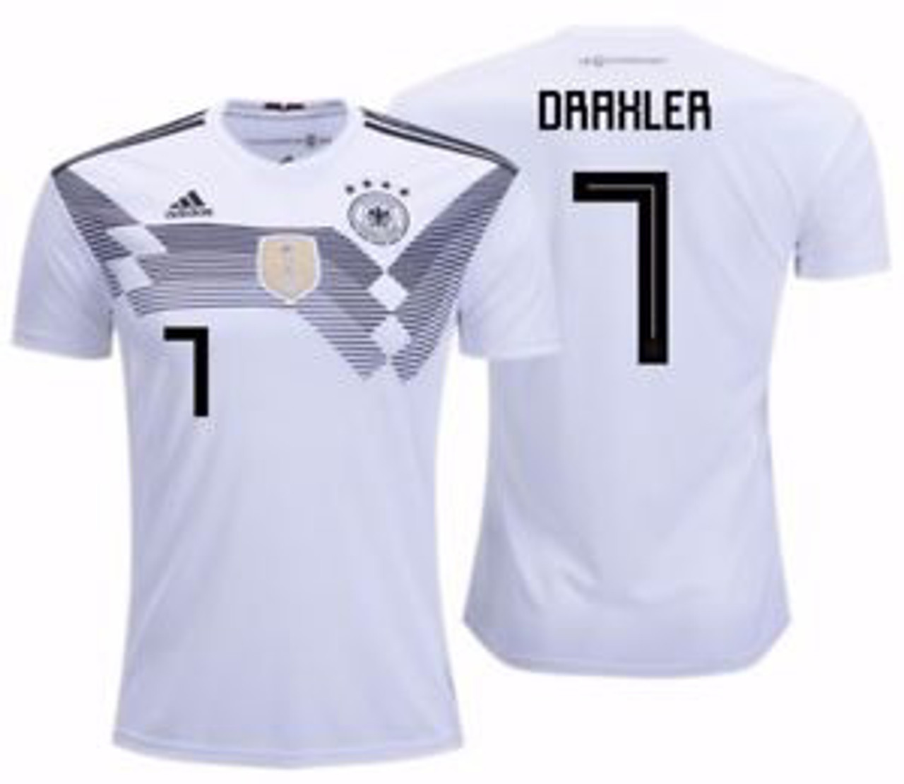 47565ed76b4 ADIDAS GERMANY 2018 WORLD CUP HOME `DRAXLER` JERSEY - Soccer Plus