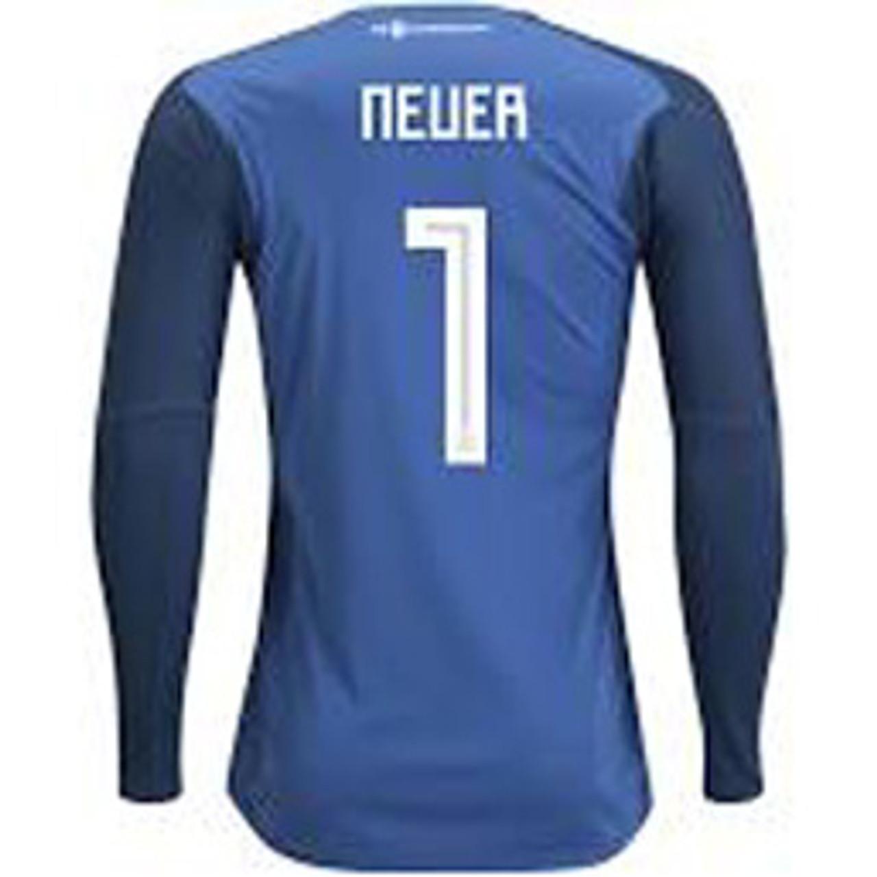 timeless design fa48a 52081 ADIDAS GERMANY 2018 WORLD CUP G/K `NEUER`JERSEY BLUE