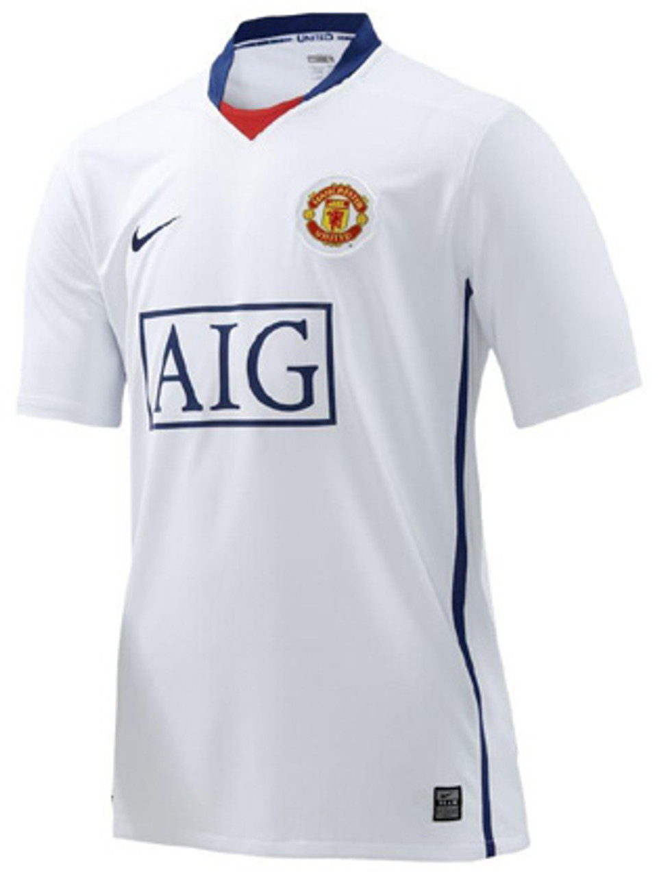 free shipping b7724 77d94 NIKE MANCHESTER UNITED 2009 AWAY JERSEY WHITE
