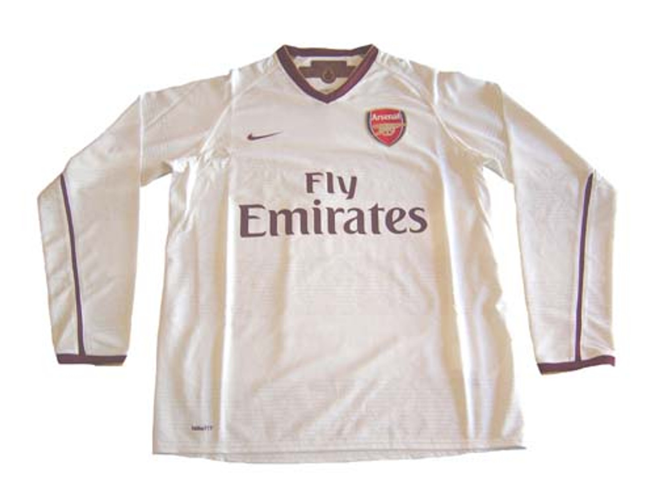 super popular 53260 0075a NIKE ARSENAL 2008 AUTHENTIC AWAY L/S JERSEY WHITE