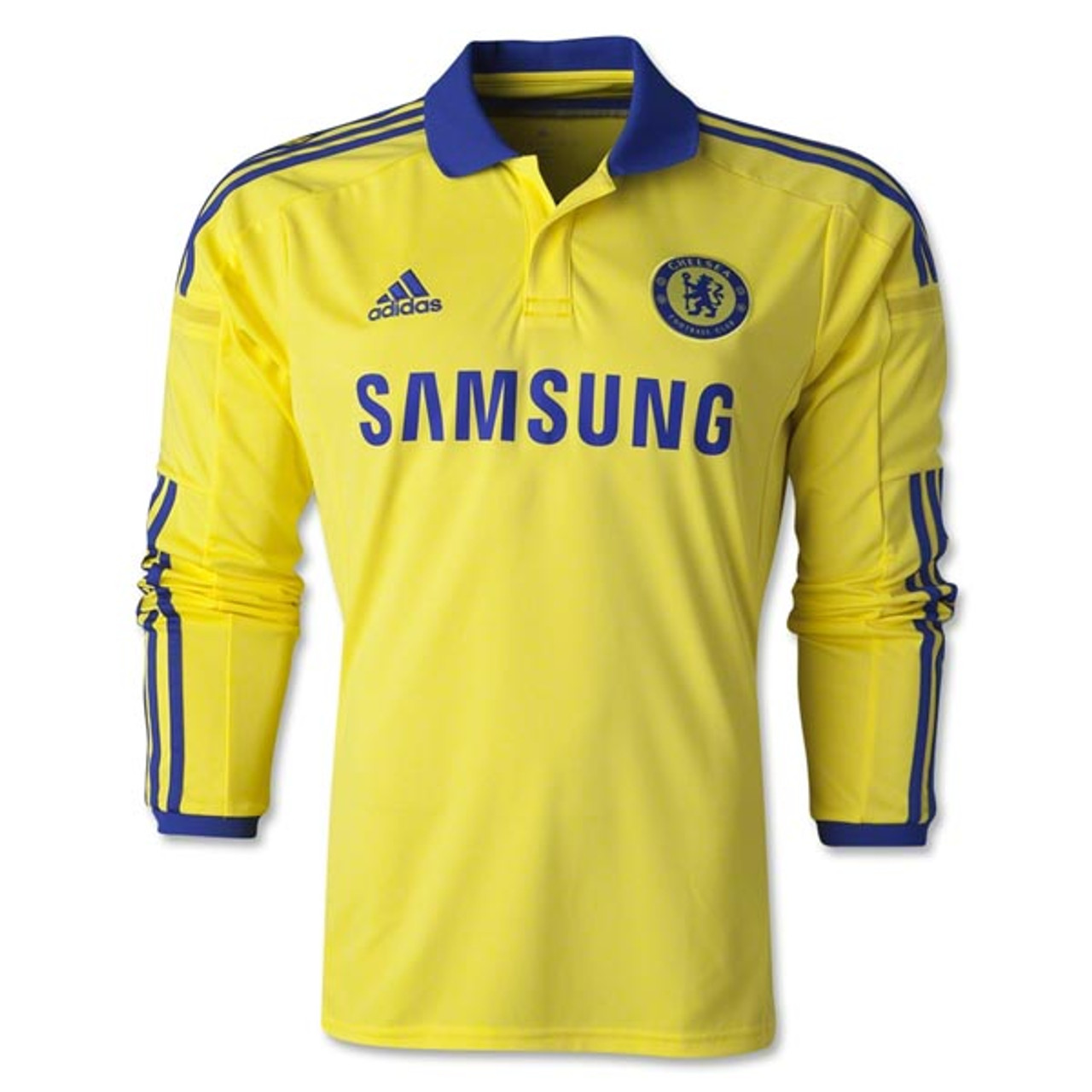 591d119c7 ADIDAS CHELSEA 2015 AWAY L S JERSEY YELLOW - Soccer Plus