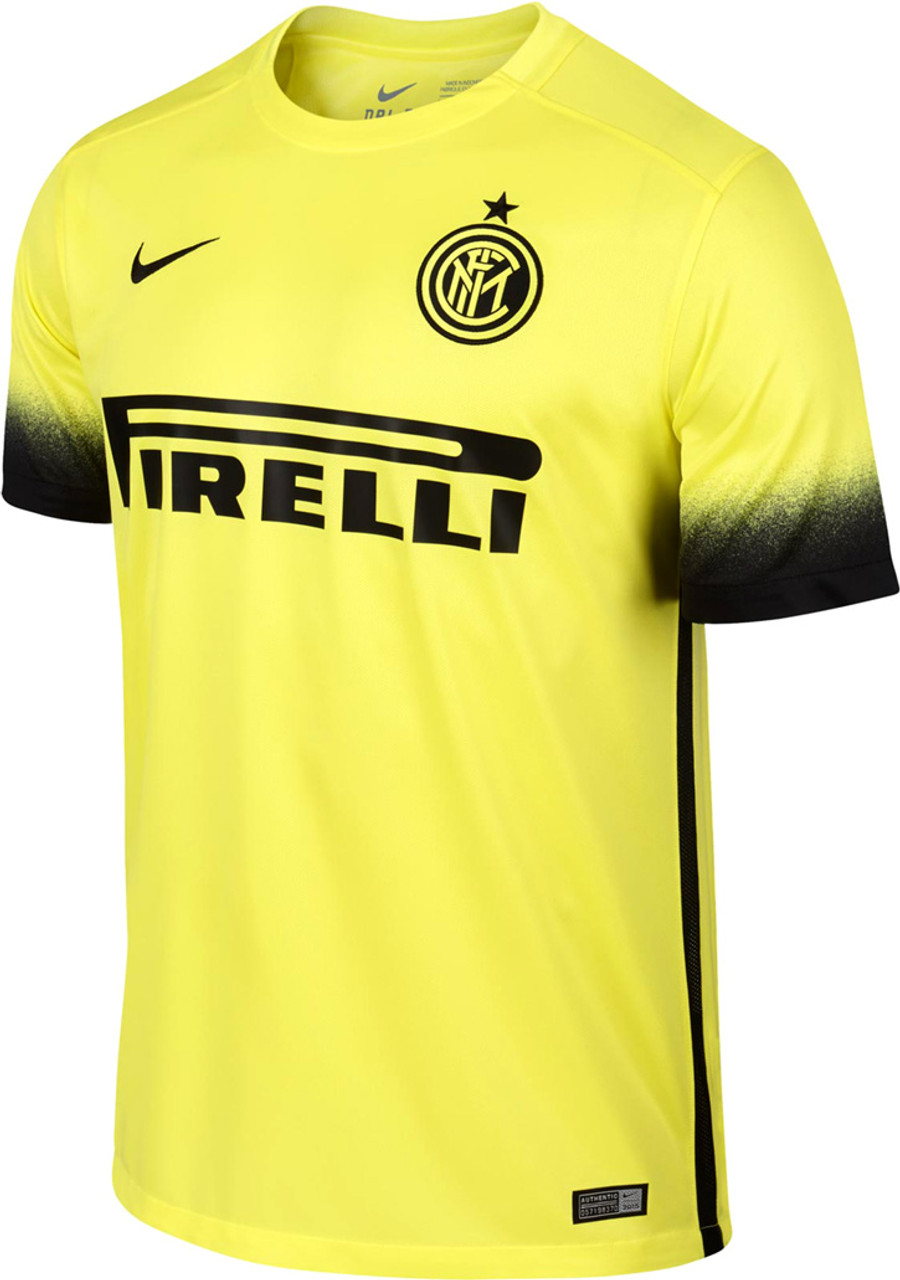 NIKE INTER MILAN 2015 YELLOW 3RD JERSEY - Soccer Plus 9659ed283