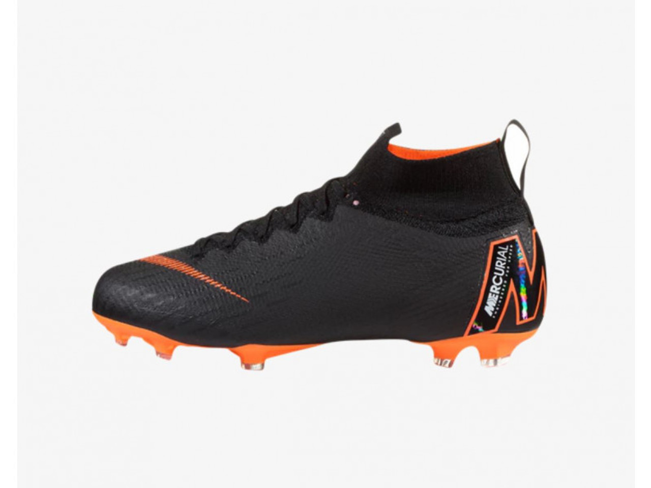 NIKE JR SUPERFLY 6 ELITE FG black total orange - Soccer Plus c8bab2093