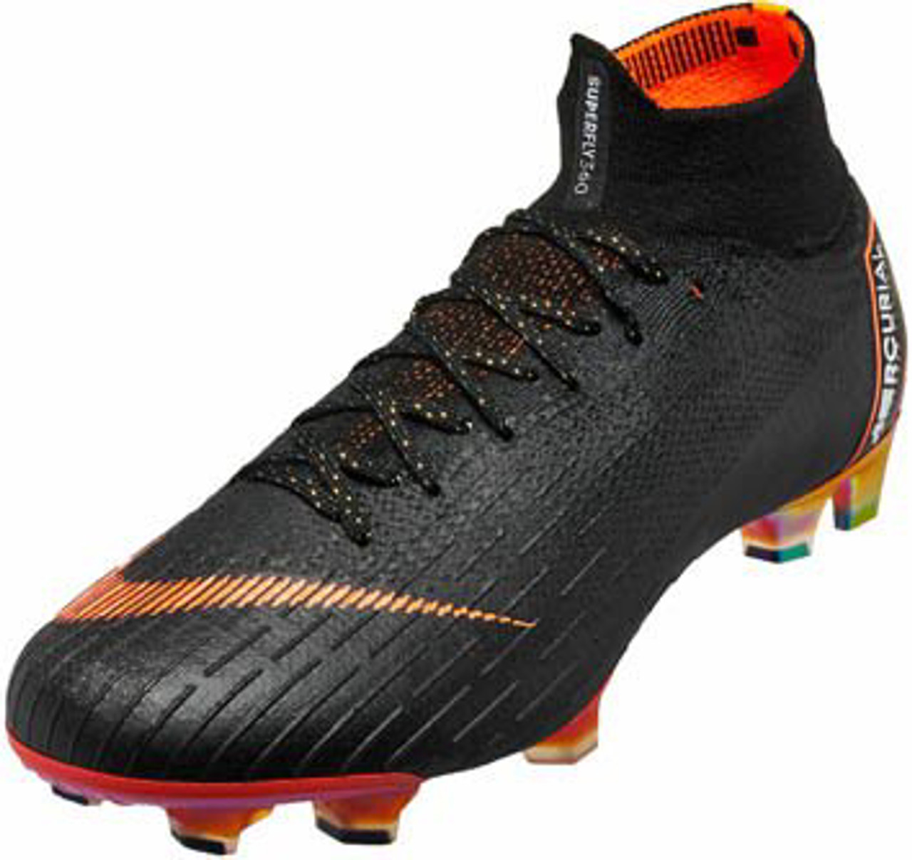 brand new f2f16 7d18d NIKE SUPERFLY VI Elite FG Soccer Cleat Black/Total Orange