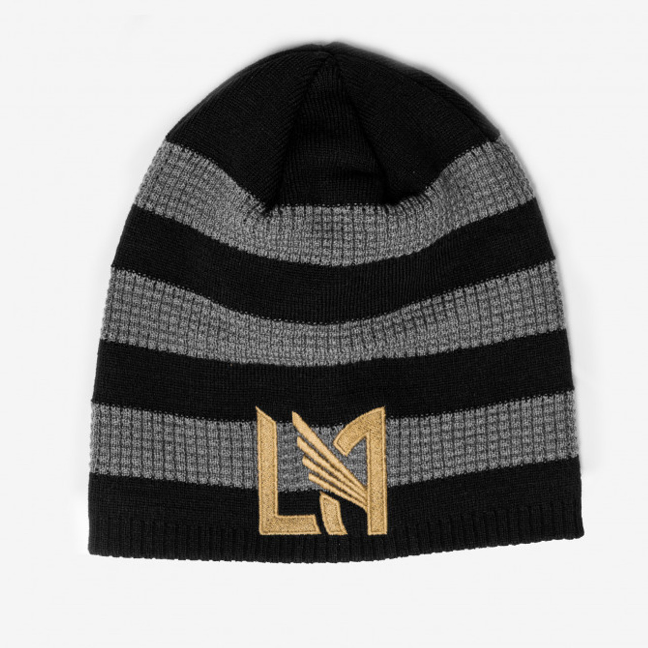 adidas LAFC Textured Beanie - Black Gray Gold - Soccer Plus 777877262a5