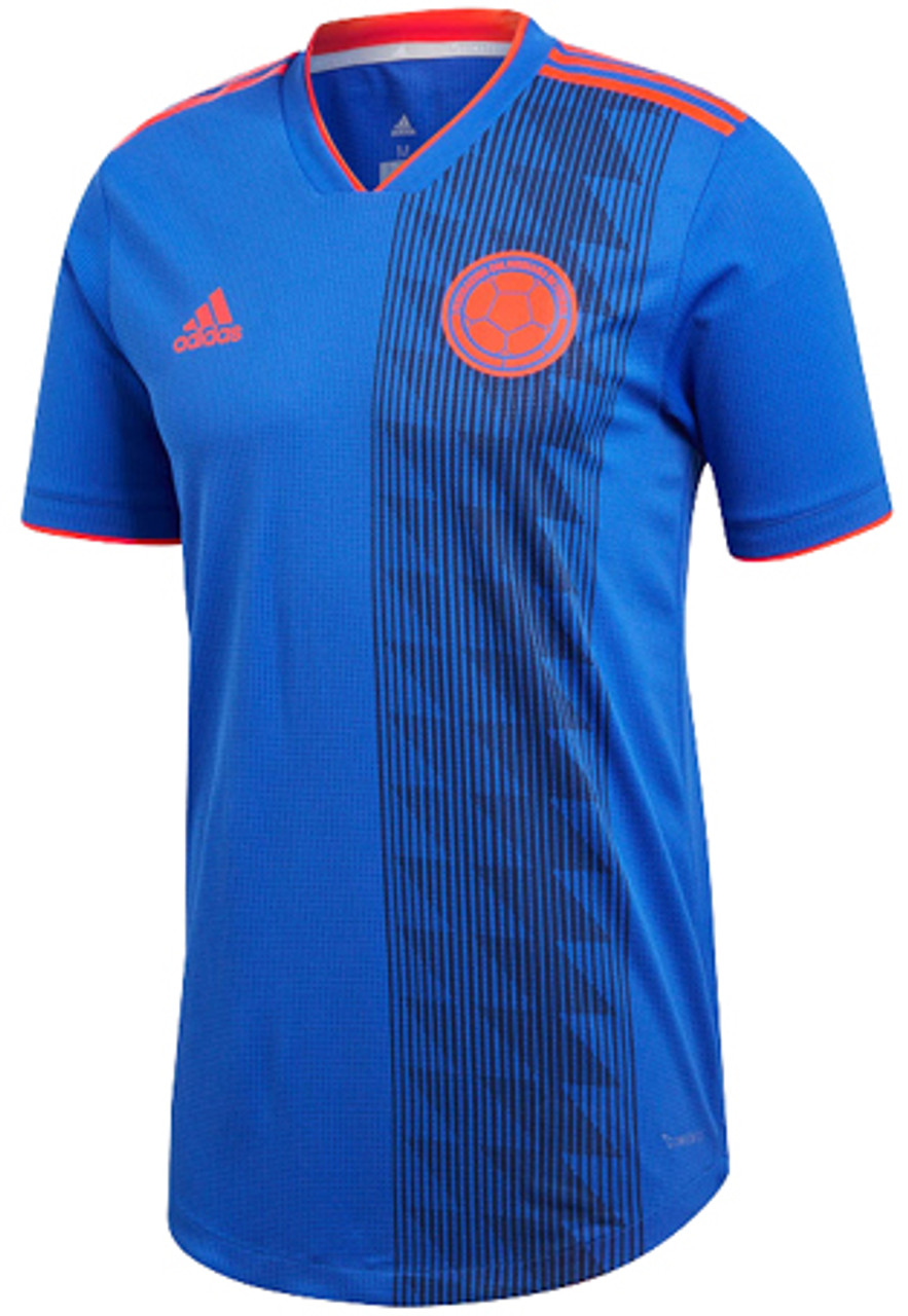 4a2301ef00a ADIDAS COLOMBIA 2018 AWAY JERSEY BLUE - Soccer Plus