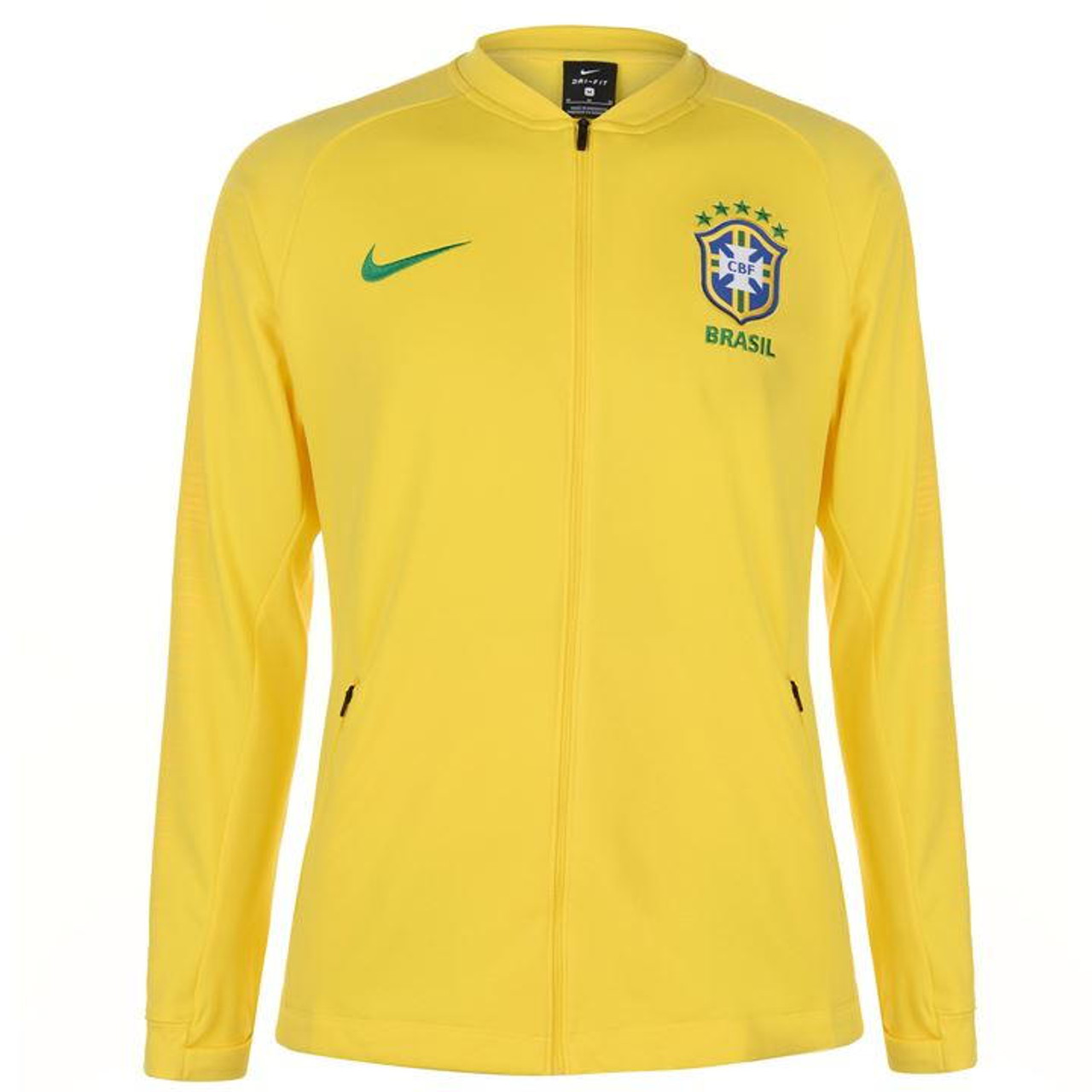 anchura Escarpa Diplomático  NIKE BRAZIL 2018 ANTHEM JACKET YELLOW - Soccer Plus