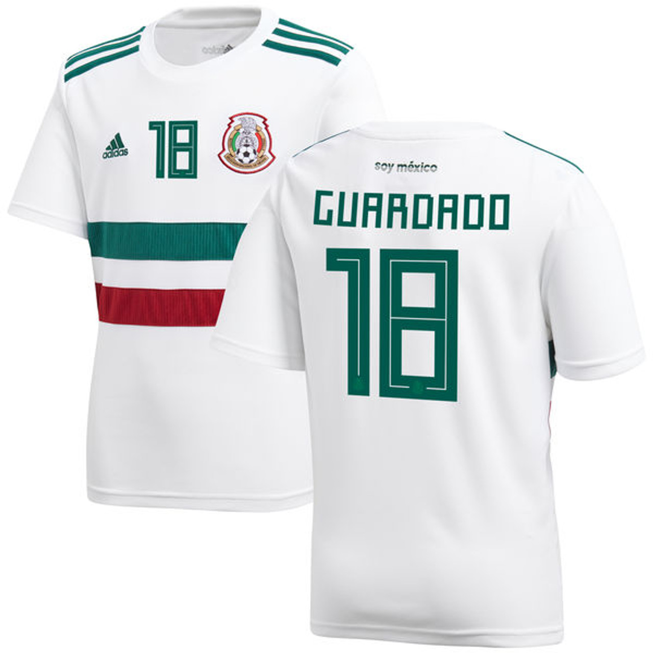 6f18f48865d ADIDAS MEXICO 2018 `GUARDADO`AWAY JERSEY WHITE - Soccer Plus