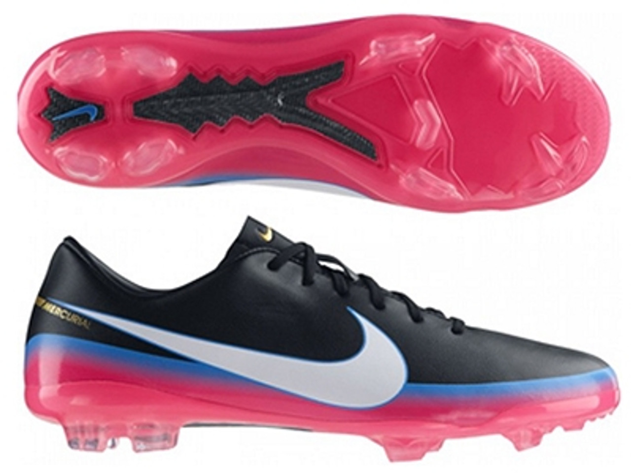 the best attitude ee678 20d4d NIKE CR7 JR MERCURIAL VAPOR VIII Soccer Cleats Blue Glow/Pink Flash