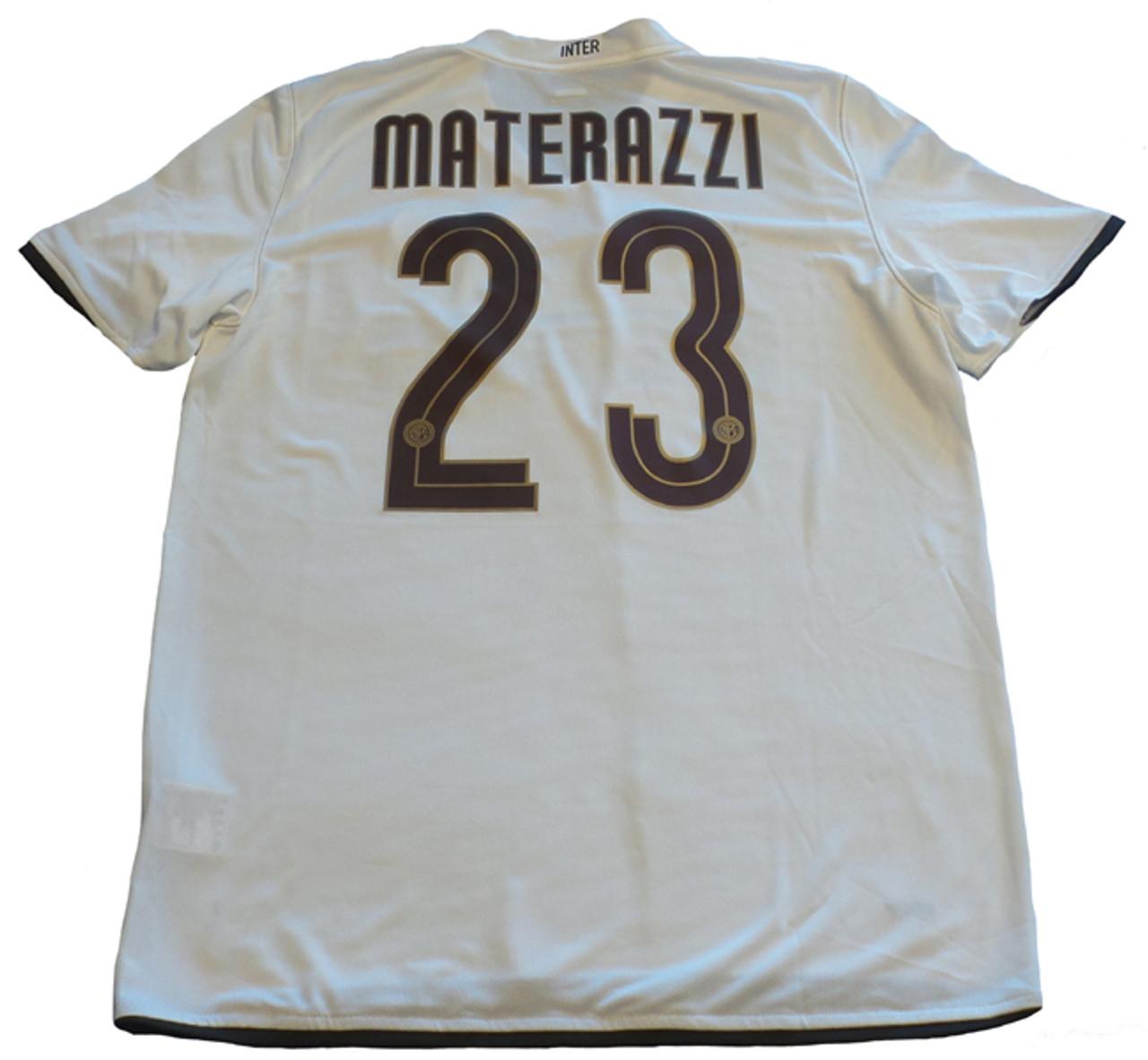 premium selection 8260b 7dcc7 NIKE INTER MILAN 2009 AWAY `MATERAZZI`JERSEY WHITE