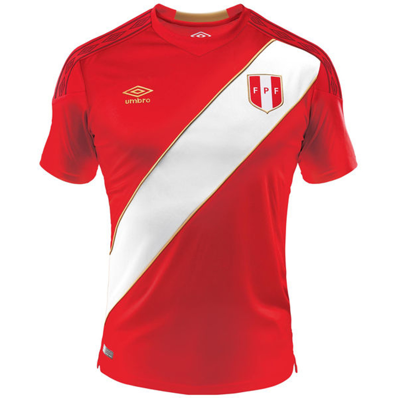 dbccedc5890 UMBRO PERU 2018 AWAY JERSEY RED - Soccer Plus