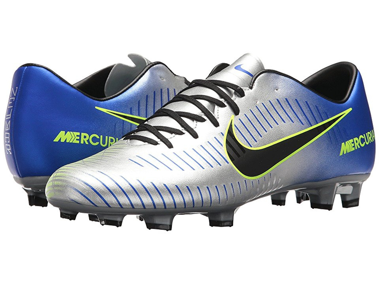 differently 3b7e2 a5f77 NIKE MERCURIAL VICTORY VI NJR FG RACER BLUE/CHROME