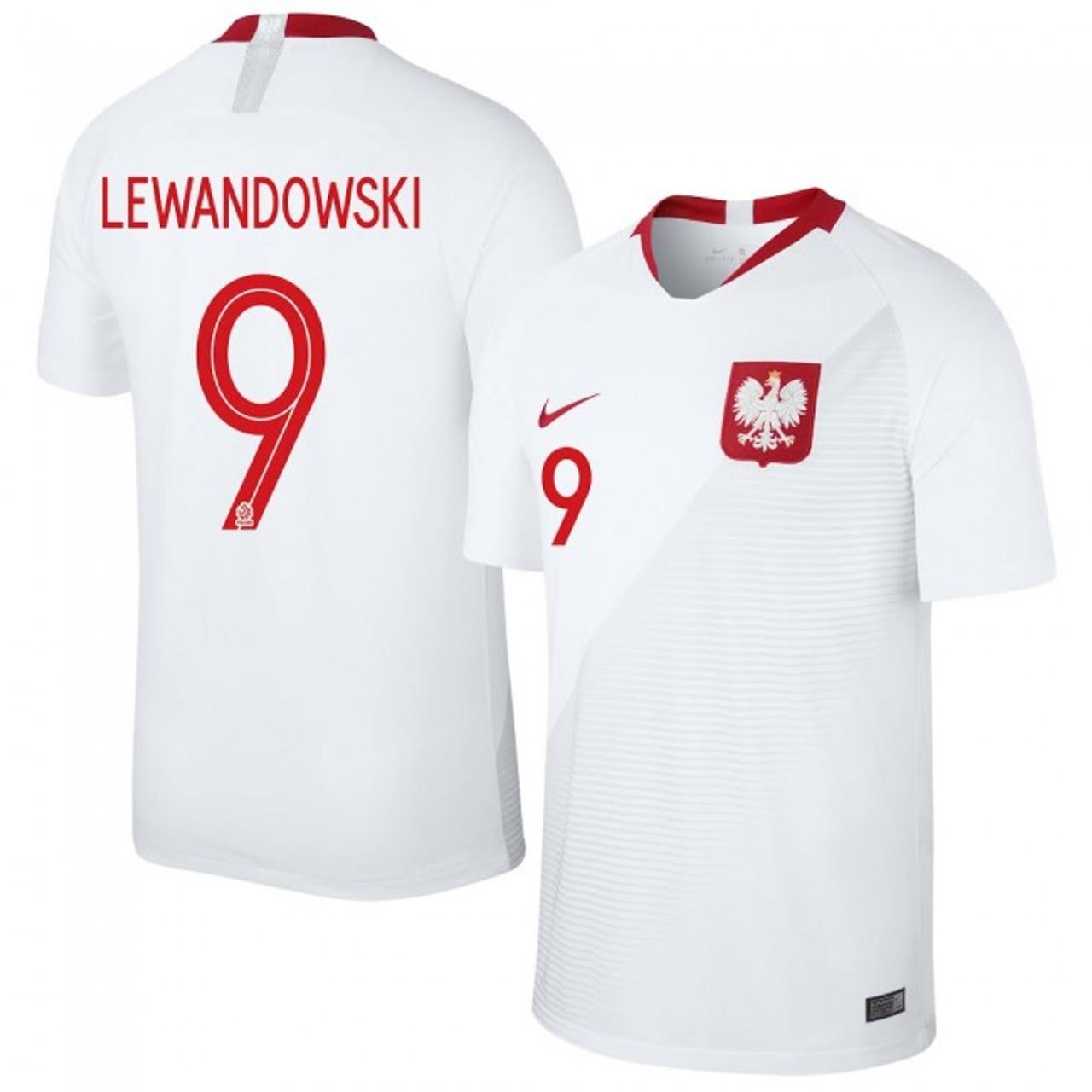 75e4437be NIKE POLAND 2018 `LEWANDOWSKI`HOME JERSEY WHITE - Soccer Plus