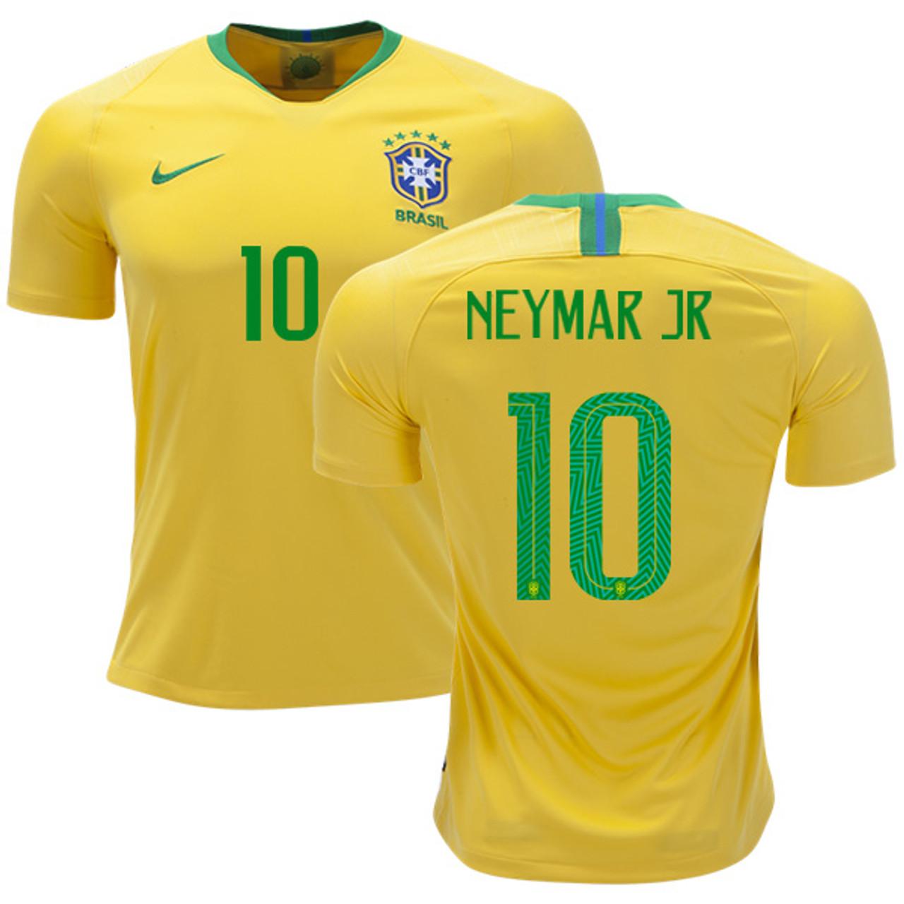 f045cab9c NIKE BRAZIL 2018 HOME NEYMAR JR JERSEY - Soccer Plus