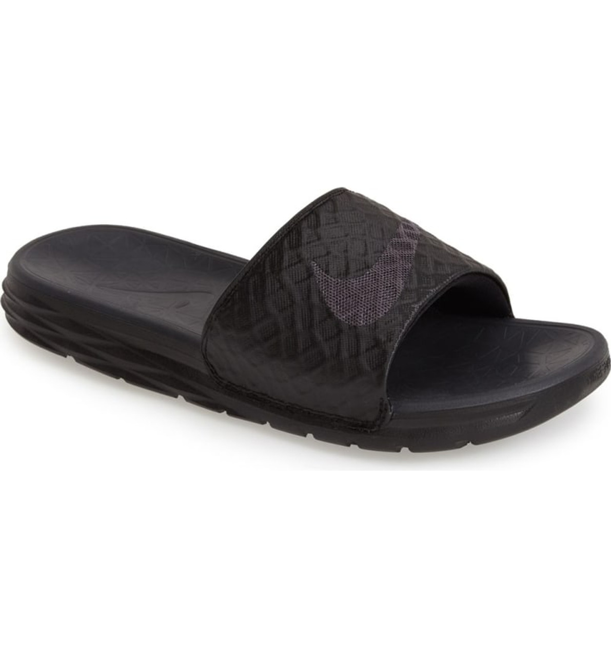 3f8411b6a18b18 NIKE BENASSI SOLARSOFT Black Anthracite - Soccer Plus