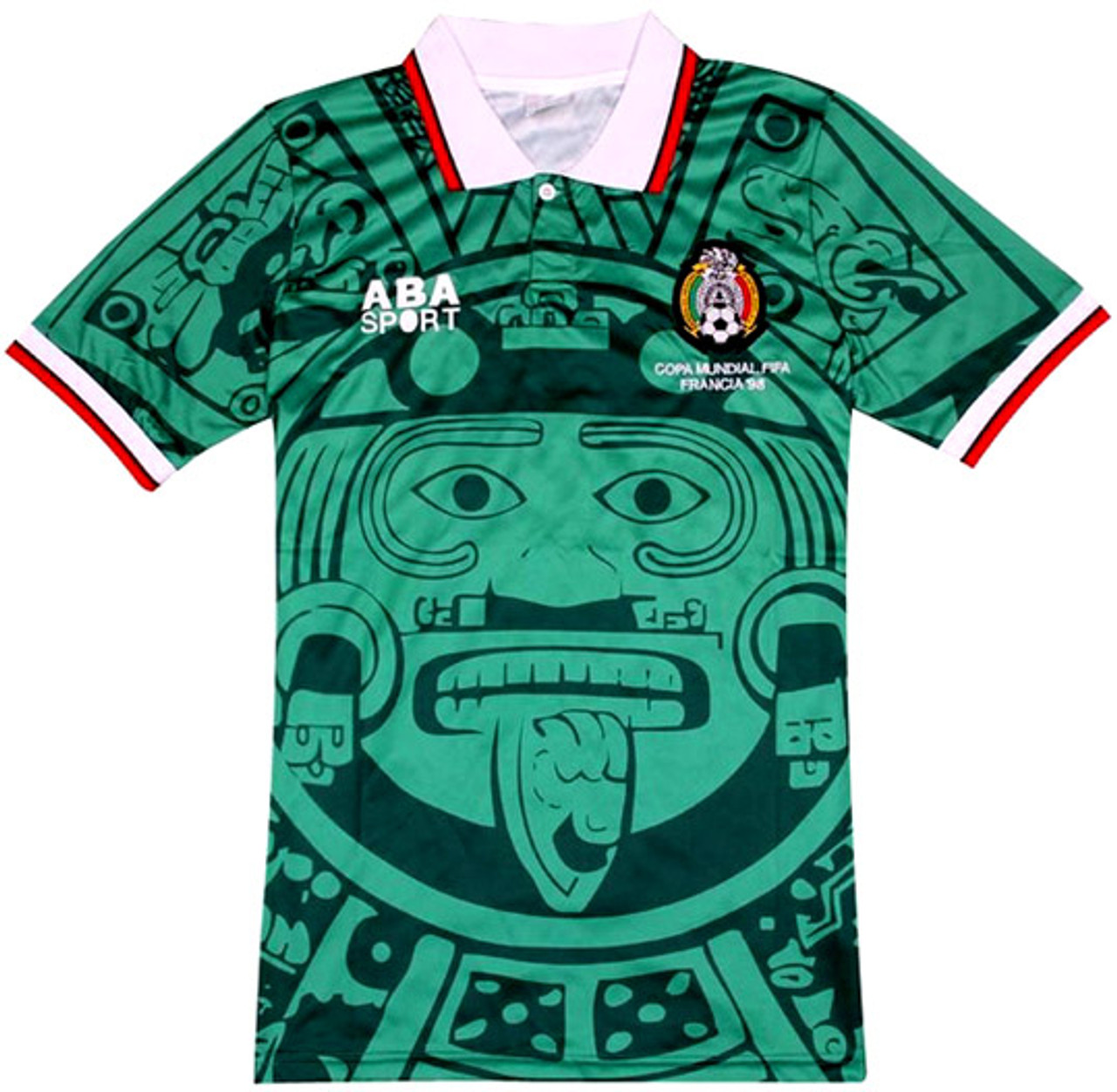 1dd6547c9 ABA SPORTS MEXICO 1998 RETRO JERSEY - Soccer Plus
