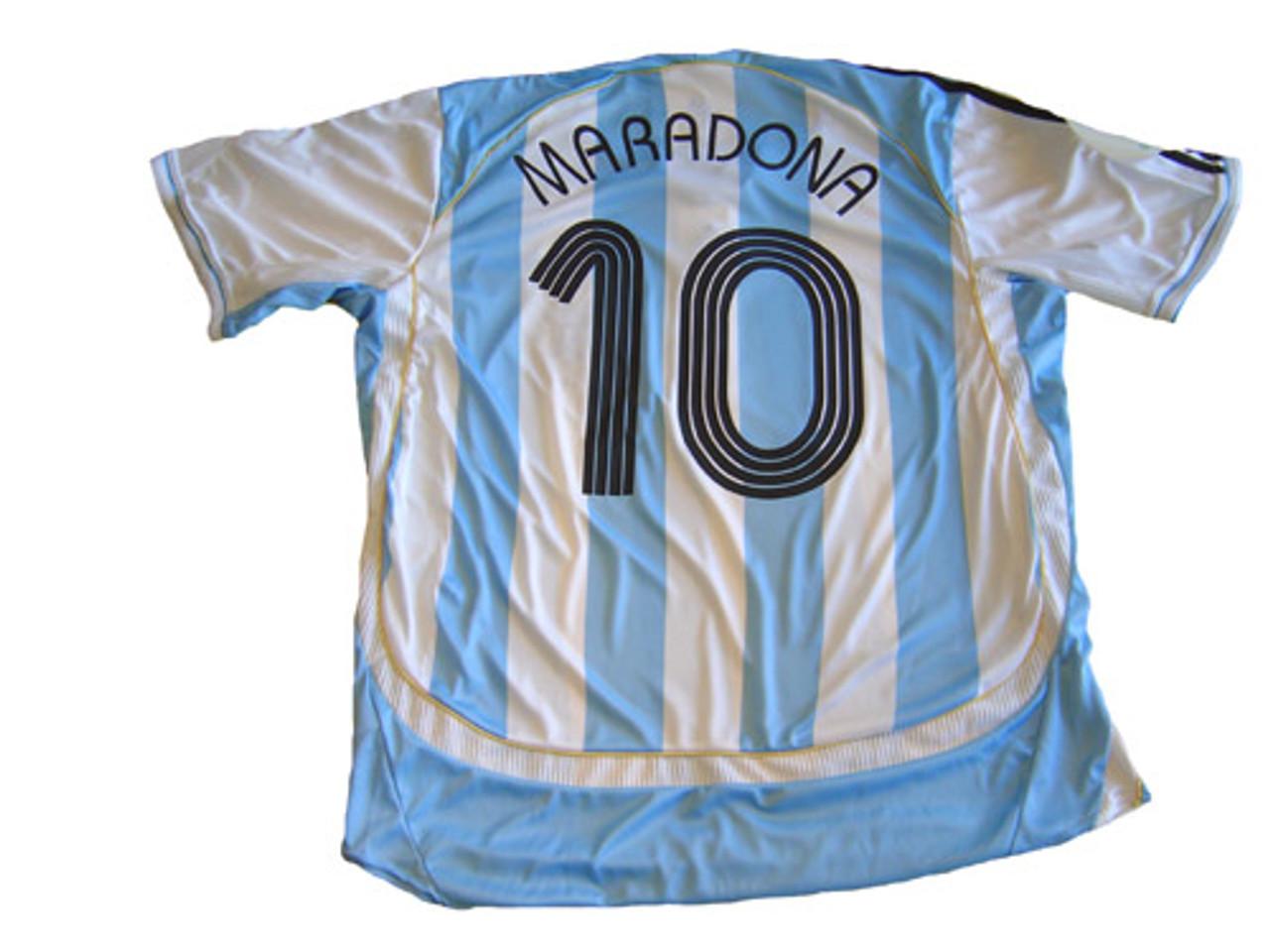 ADIDAS ARGENTINA 2006 `MARADONA` AUTHOGRAPHED HOME JERSEY