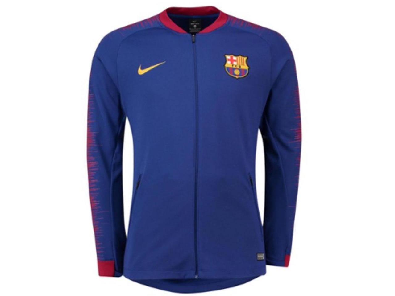 95cb7be89 NIKE BARCELONA 2019 ANTHEM JACKET BLUE - Soccer Plus