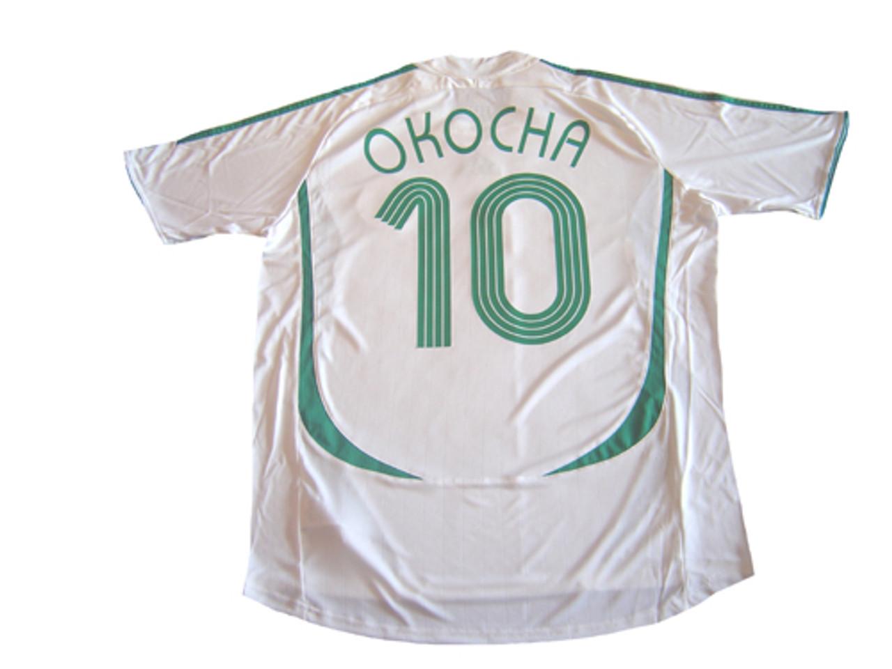 ADIDAS NIGERIA 2006 AWAY `OKOCHA` JERSEY