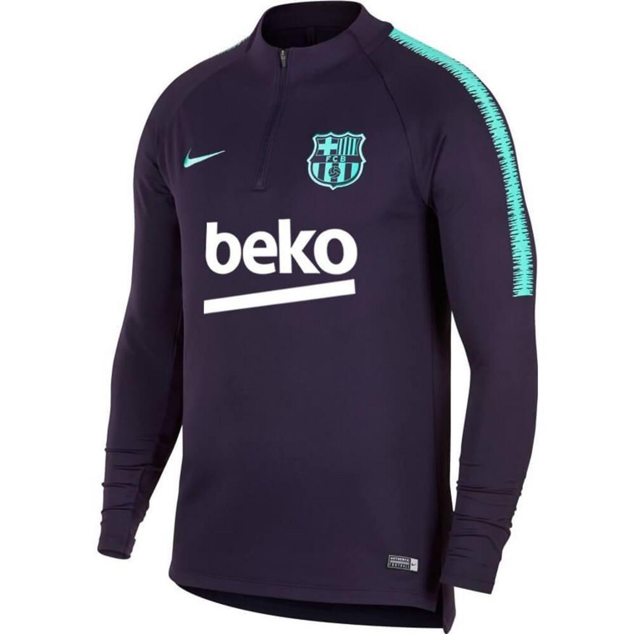 Mendigar cepillo ritmo  NIKE FC BARCELONA 2019 KIDS Dry Squad training top dynasty purple - Soccer  Plus