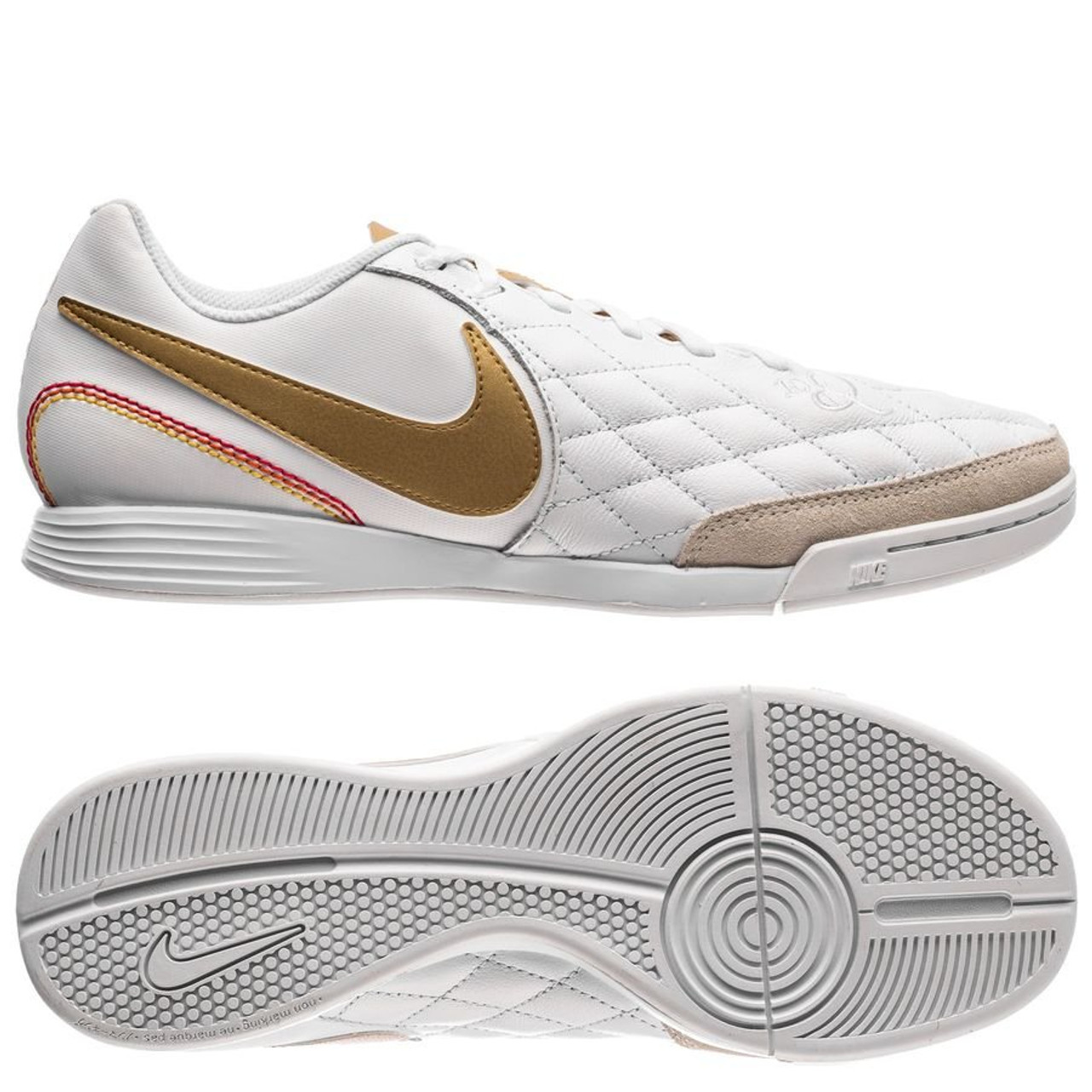 super popular 4fe97 ee7be NIKE LEGEND 7 ACADEMY 10R IC White/gold