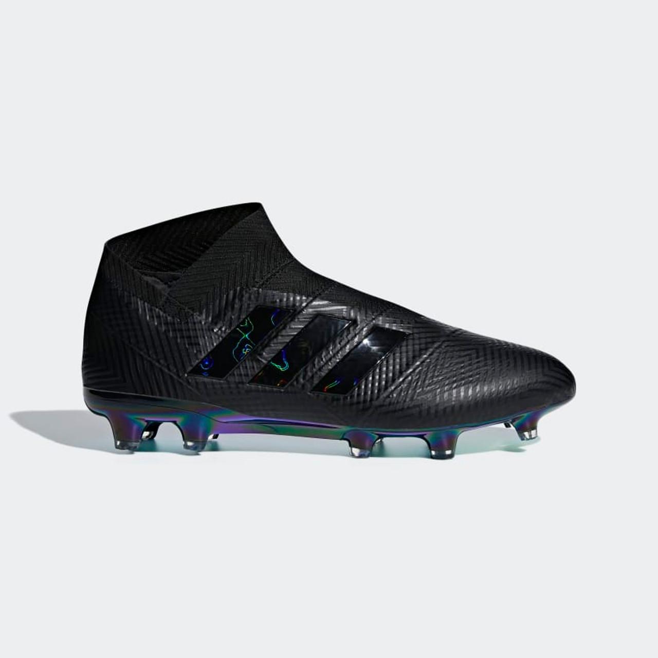 finest selection ea8d3 5218f ADIDAS NEMEZIZ 18+ FG Black - Soccer Plus
