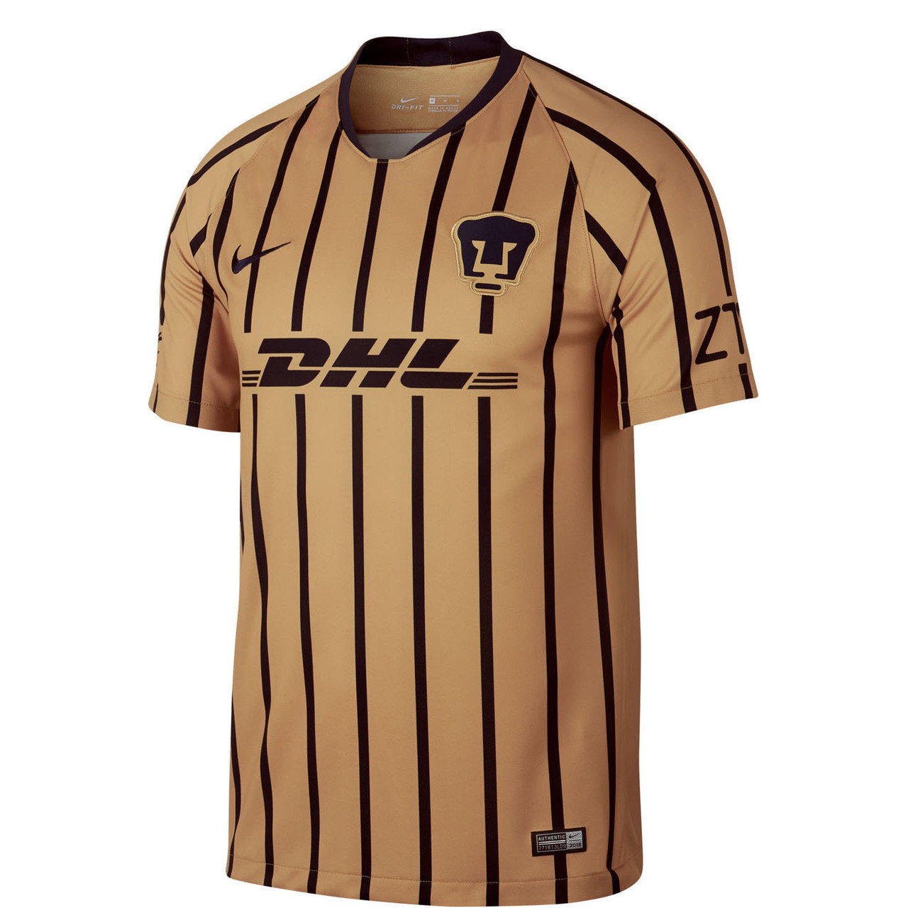 eb4e3ad18 NIKE UNAM PUMAS 2019 AWAY JERSEY Gold - Soccer Plus