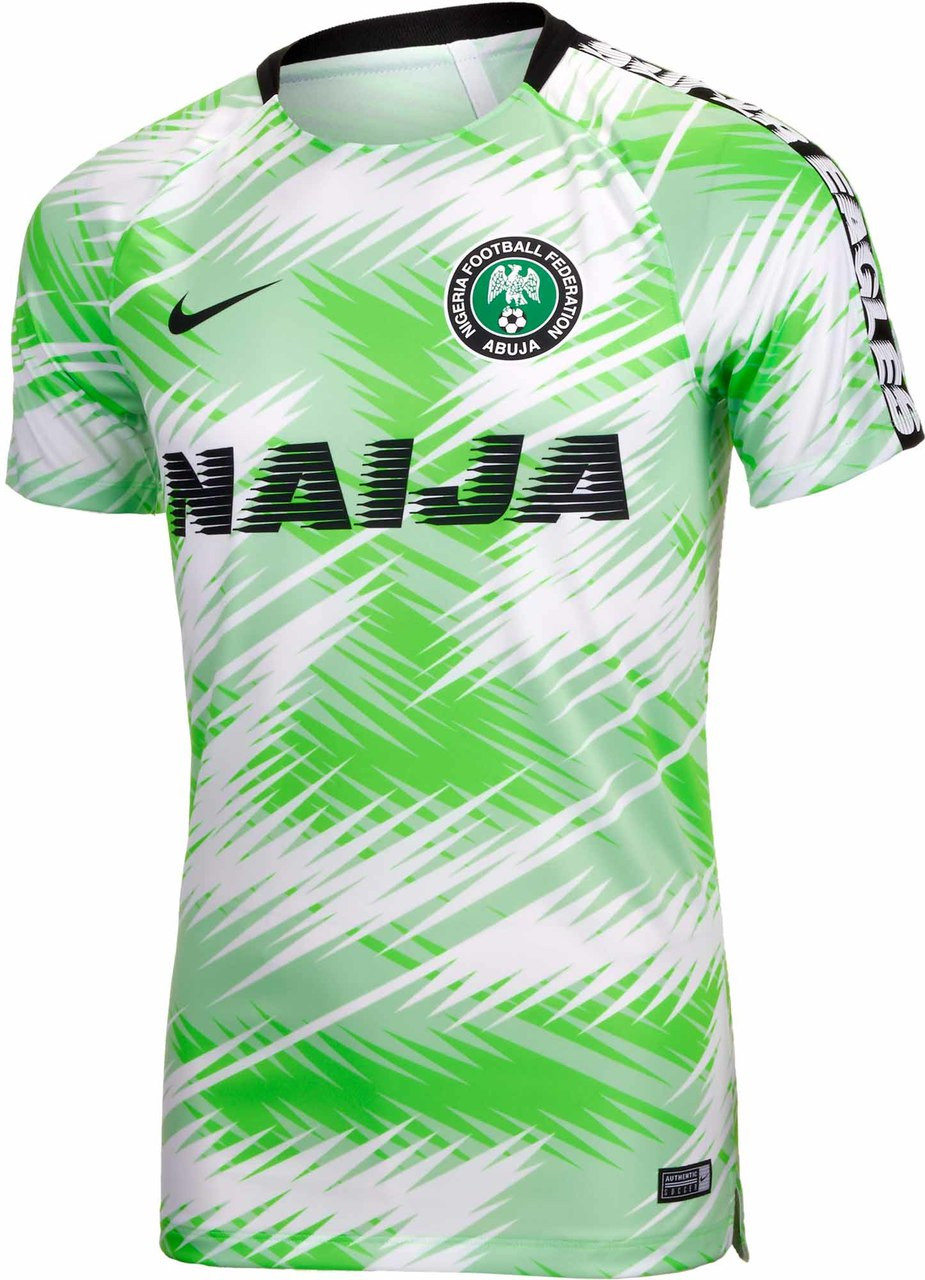 NIKE NIGERIA 2018 PRE-MATCH TOP WHITE - Soccer Plus 71616f51a