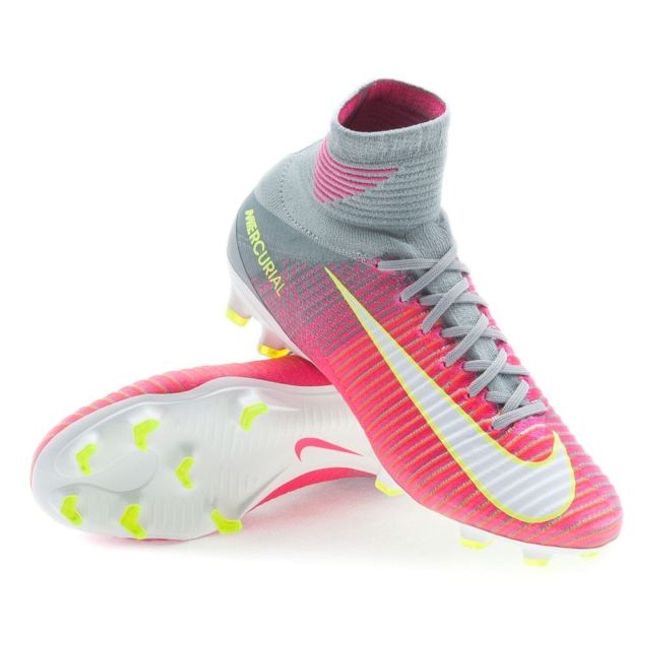 28ad38c56b4 NIKE SUPERFLY WOMEN S FG PINK GREY - Soccer Plus