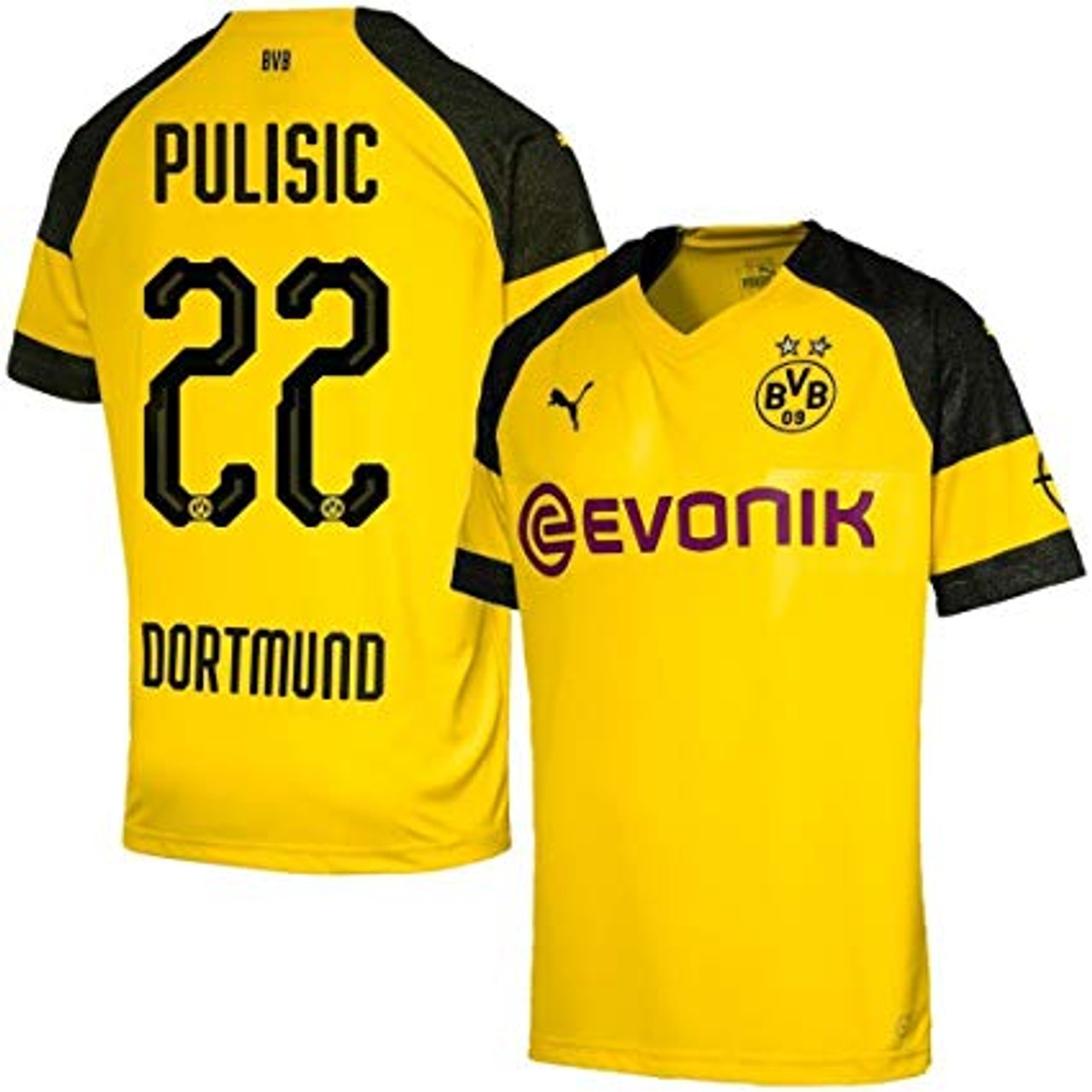 Puma Borussia Dortmund 2019 Boys Pulisic Home Jersey Soccer Plus