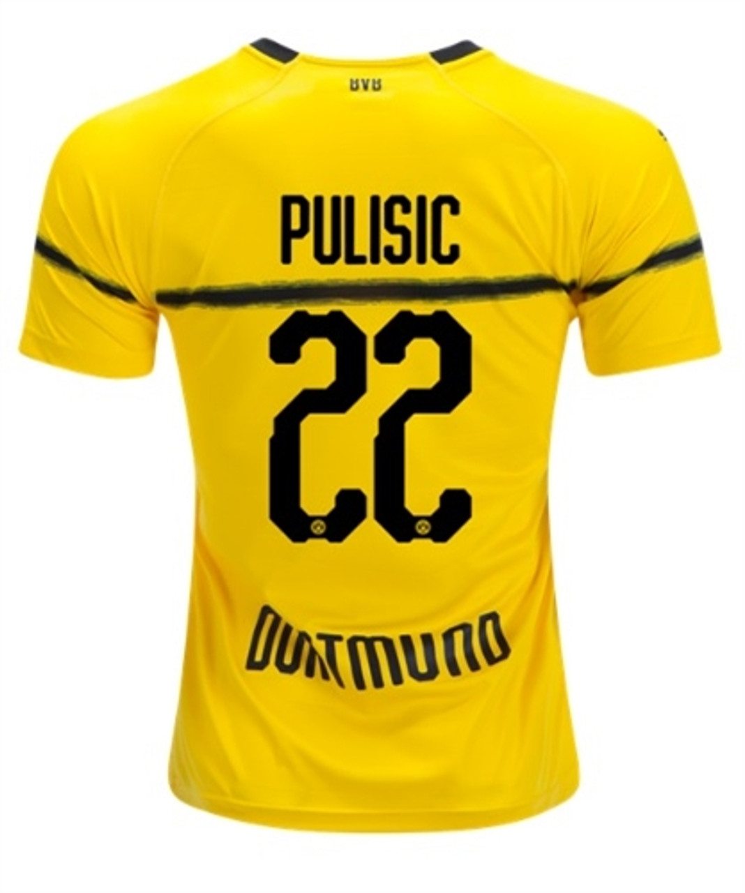 best sneakers 7a8b0 4aa90 PUMA BORUSSIA DORTMUND 2019 HOME CUP `PULISIC` JERSEY