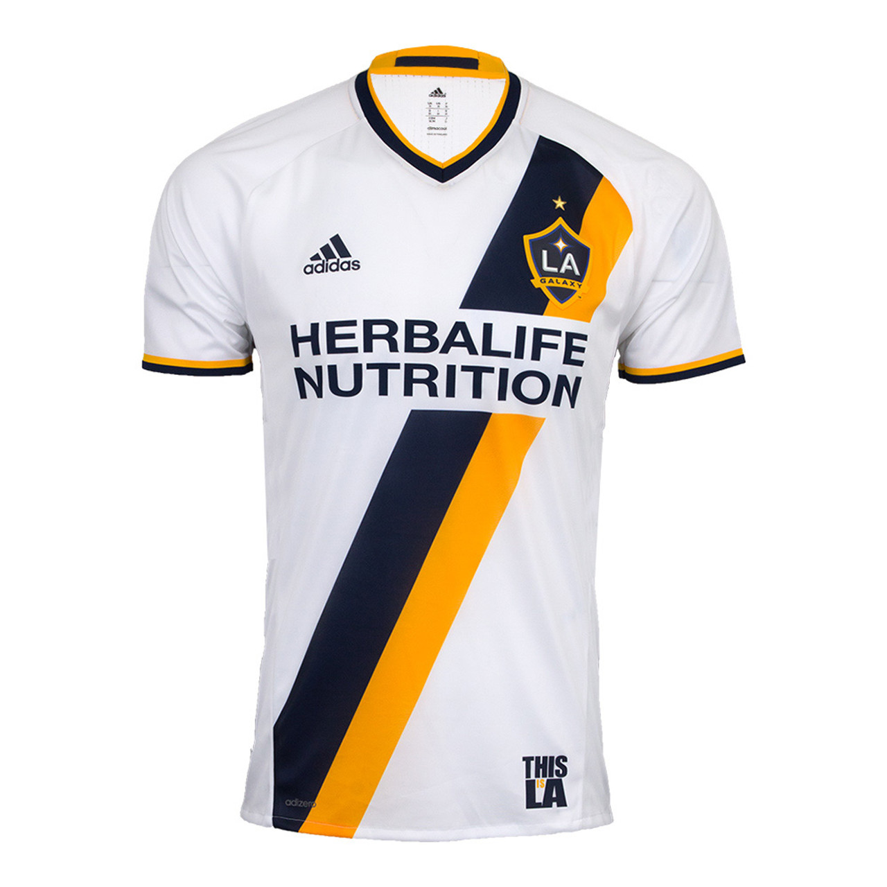 ADIDAS LA GALAXY 2017 2018 Authentic Home Jersey - Soccer Plus 1172cc12d