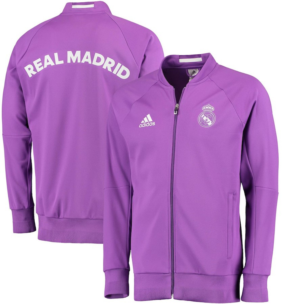 buy online 3eb6a 9f46c ADIDAS REAL MADRID 2017 Anthem Full-Zip Jacket - Purple
