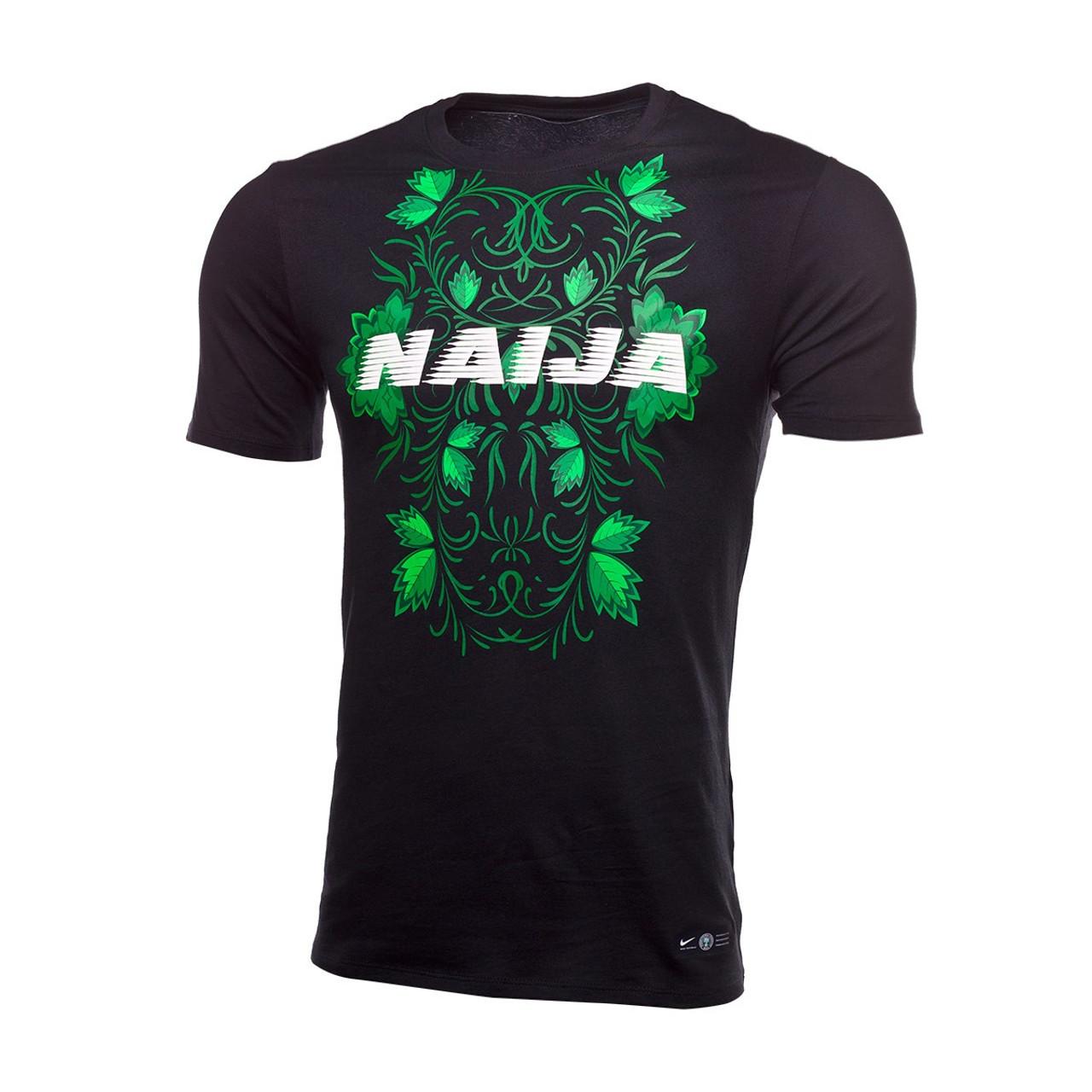 3da561a36 NIKE NIGERIA 2018 SQUAD TEE BLACK - Soccer Plus