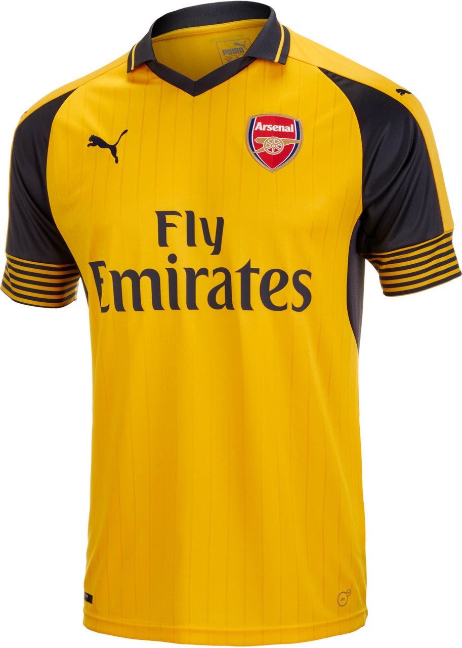 best sneakers 1d12a f734a PUMA ARSENAL 2017 AWAY JERSEY YELLOW